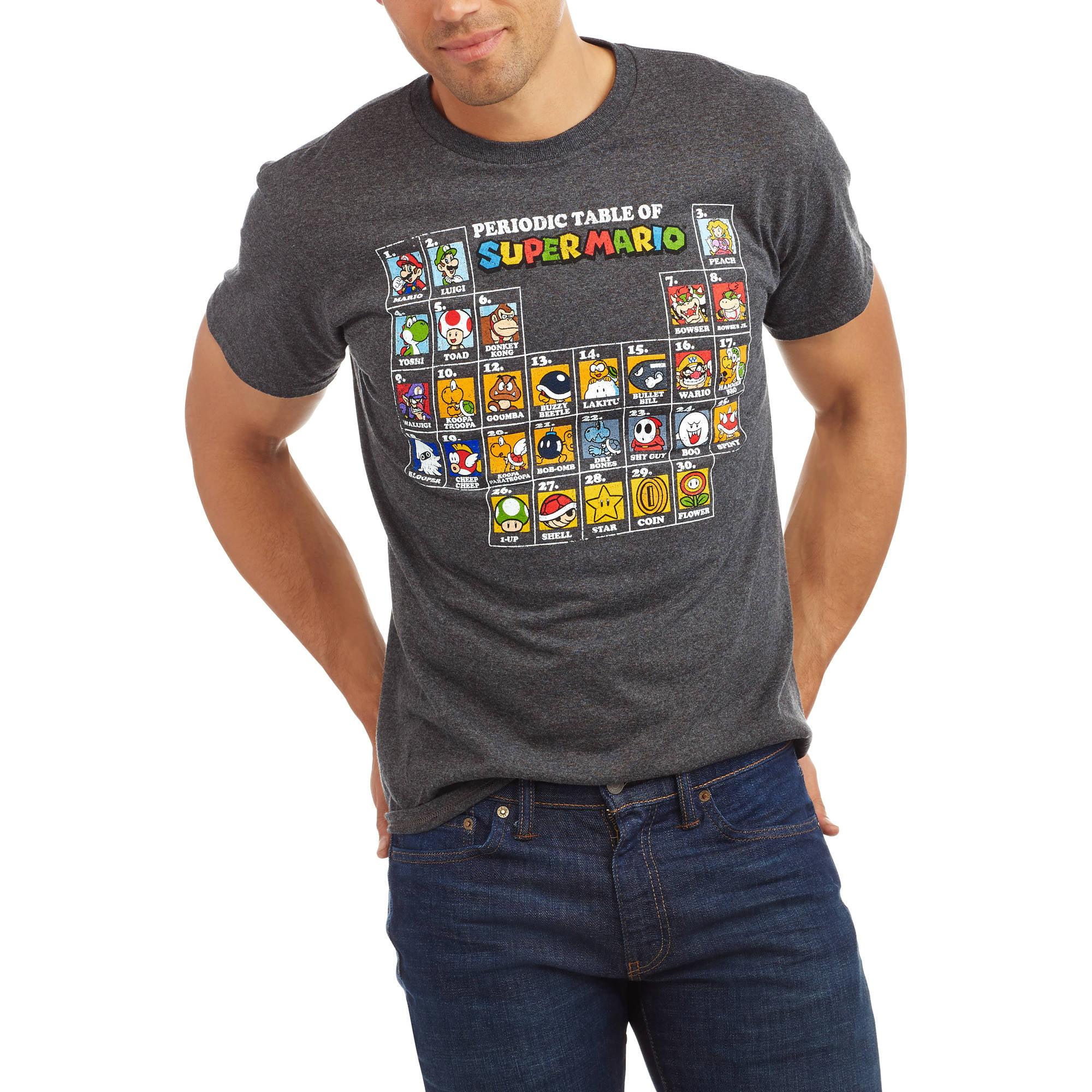 Nintendo big mens periodic table of super mario tee walmart gamestrikefo Choice Image