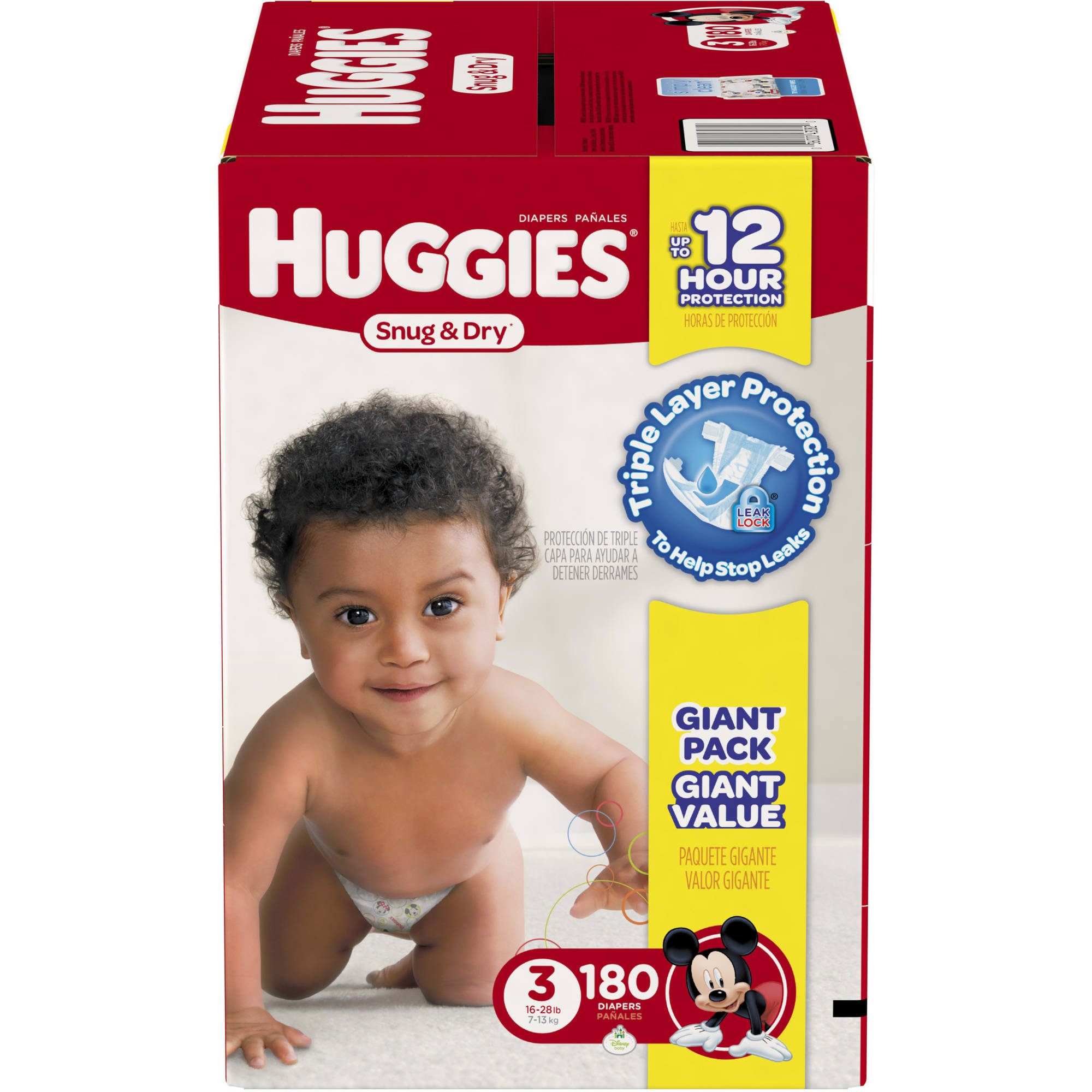 HUGGIES Snug & Dry Diapers, Giant Pack, (Choose Your Size)