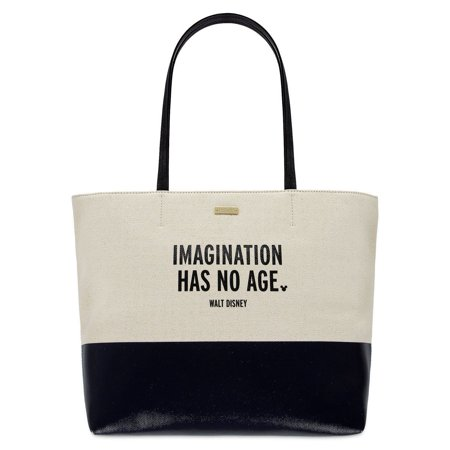 Disney Imagination Has No Age Canvas Glitter Tote by Kate Spade New with Tag - Disney Totes