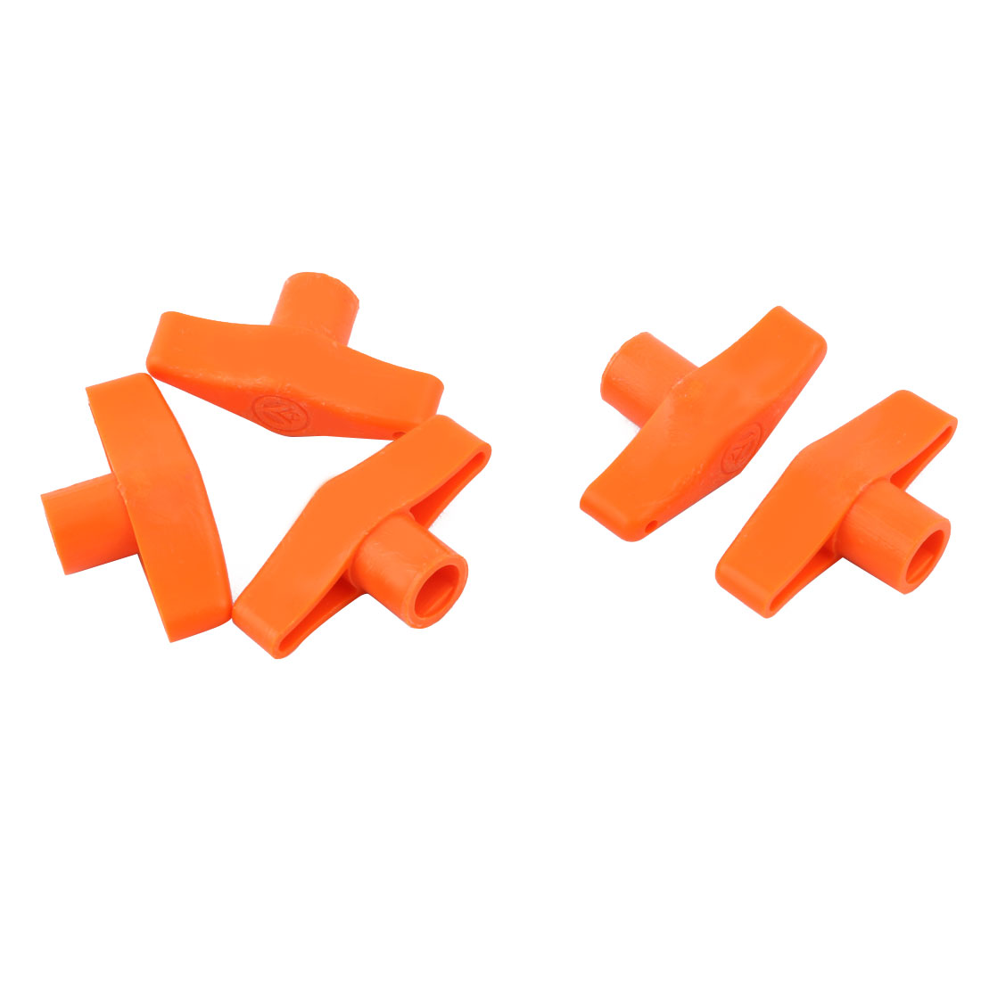 Family Kitchen Accessories Plastic Tap Faucet Aerator Spanner Wrench Orange 5pcs