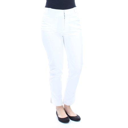 - RACHEL ROY Womens White Cropped Wear To Work Pants  Size: 4