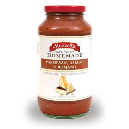 Mezzetta Pasta Sauce Parmesan Asiago and Romano 25 oz (Pack of 6)