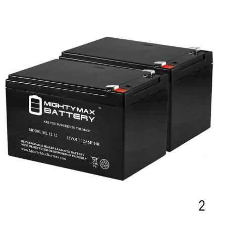 12V 12Ah F2 Wheelchair Medical Mobility Battery - 2 Pack