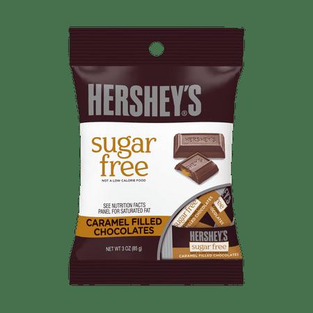 Hershey's, Sugar-Free Caramel Filled Chocolate Candy, 3 Oz.