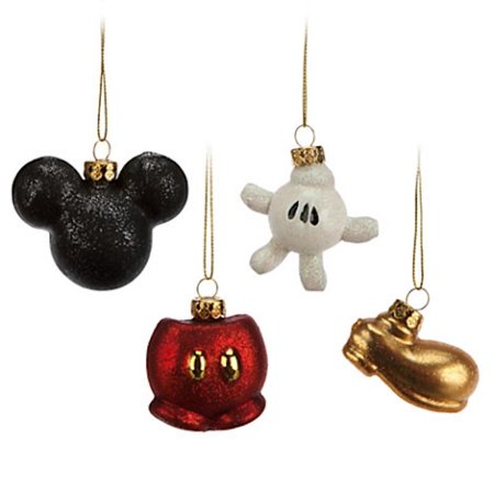 disney parks christmas ornament set best of mickey pants glove new with -