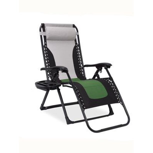 Oversized Zero Gravity Chair Padded Support 400 lbs Heavy Duty Patio Lounge Chair Recliner 75 inches Extra Long Outdoor Camping Beach Chair with Cup