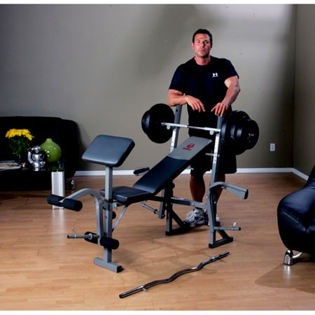 Marcy Standard Bench with 100-pound Weight Set