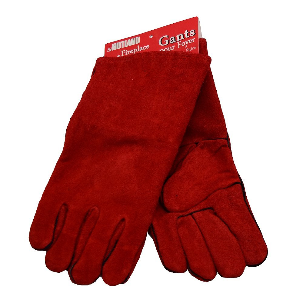 Fireplace Gloves, Hi Temp, Color : Red By Rutland Products