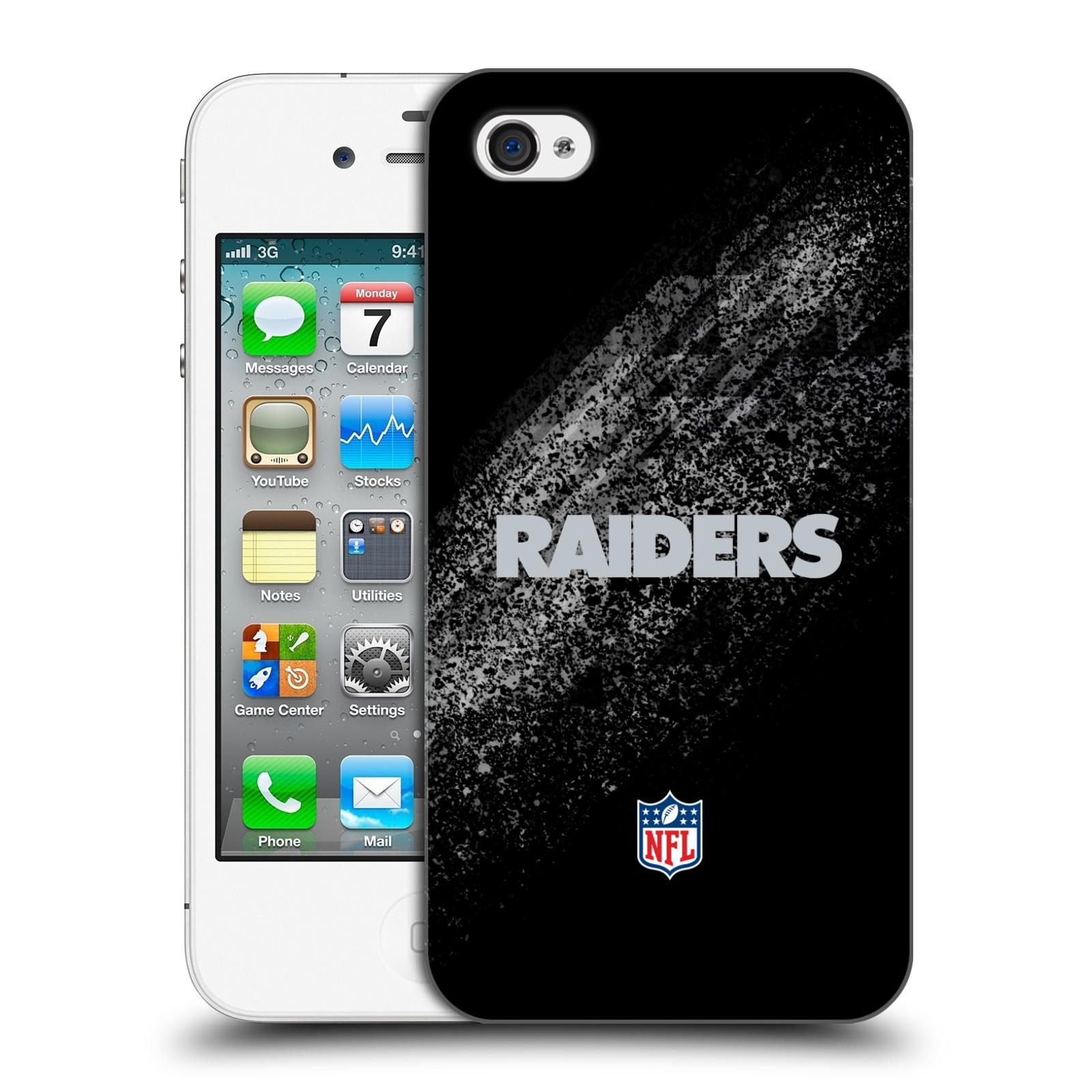 OFFICIAL NFL OAKLAND RAIDERS LOGO HARD BACK CASE FOR APPLE IPHONE PHONES