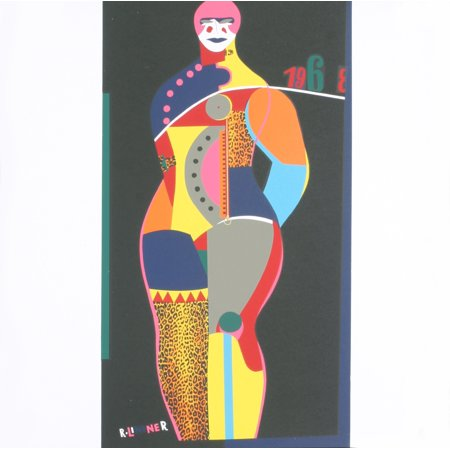 Richard Lindner Fun City From Multiples 1968 Serigraph