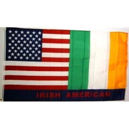 USA and Ireland Friendship Irish American Flag Polyester 3 x 5 Foot New Friend
