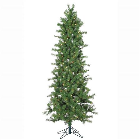 7 ft. x 36 in. Slim PVC Spruce Tree 300 Clear Mini Lights](Thumbprint Wedding Tree)