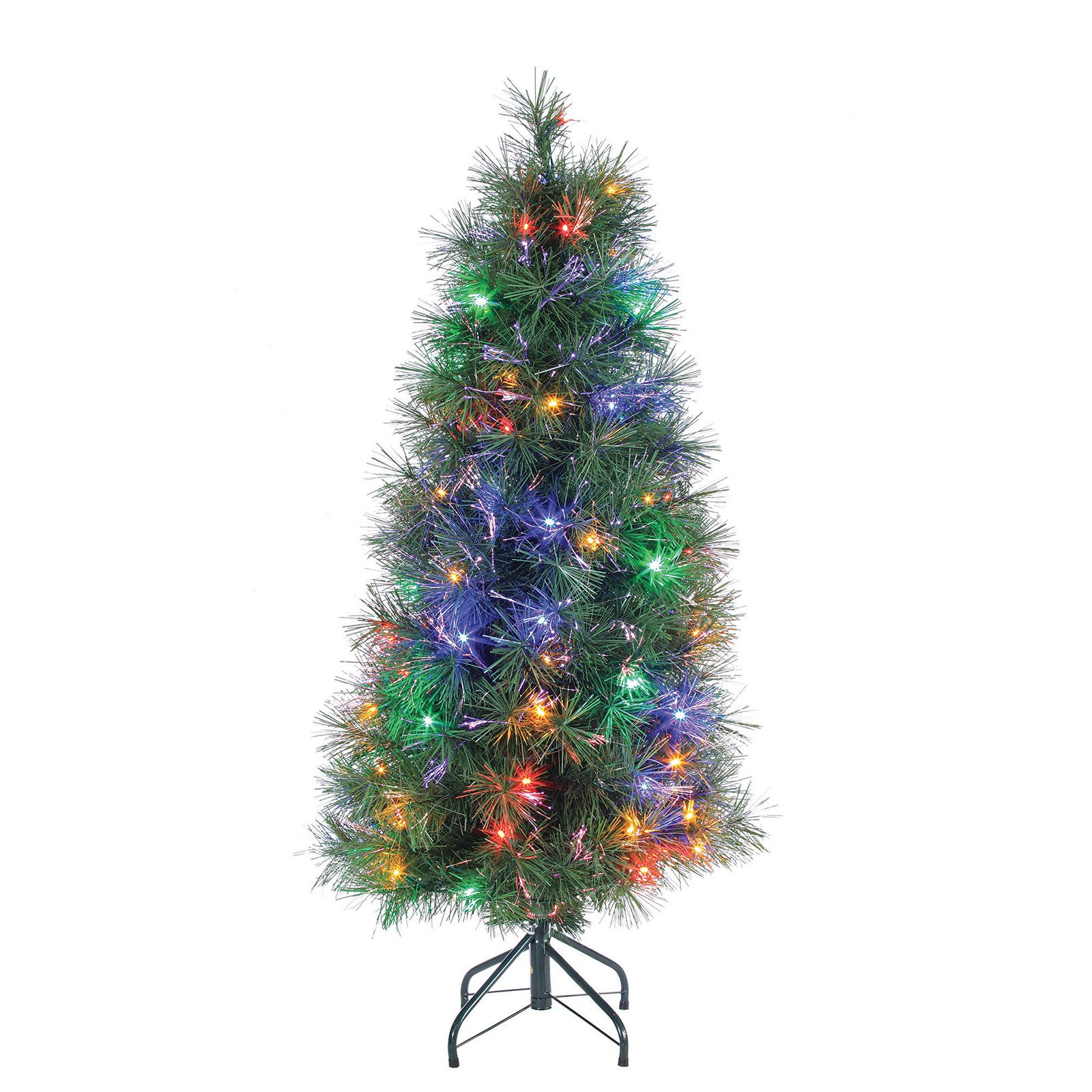 best choice products 7ft pre lit fiber optic artificial christmas pine tree w 280 lights 8 sequences stand green walmartcom - Pre Decorated Christmas Trees