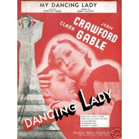 Grace Kelly Clark Gable (Dancing Lady Movie Poster Joan Crawford Clark Gable New 12x18)