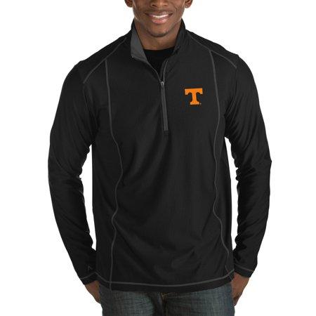 Tennessee Volunteers Antigua Tempo Half-Zip Pullover Big & Tall Jacket - Black Antigua Tennessee Volunteers Jacket