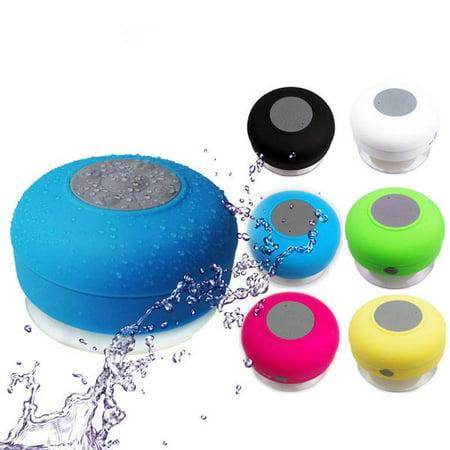 Bluetooth Waterproof Wireless Speaker Suction Shower speaker Hands free Mic (Waterproof Speakers Wireless)