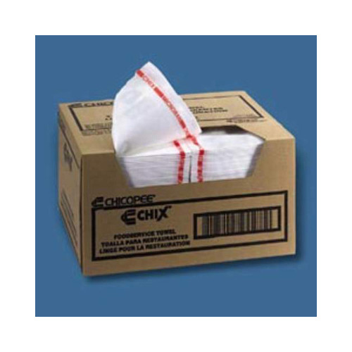 CHIX Food Service Towel in Red and White