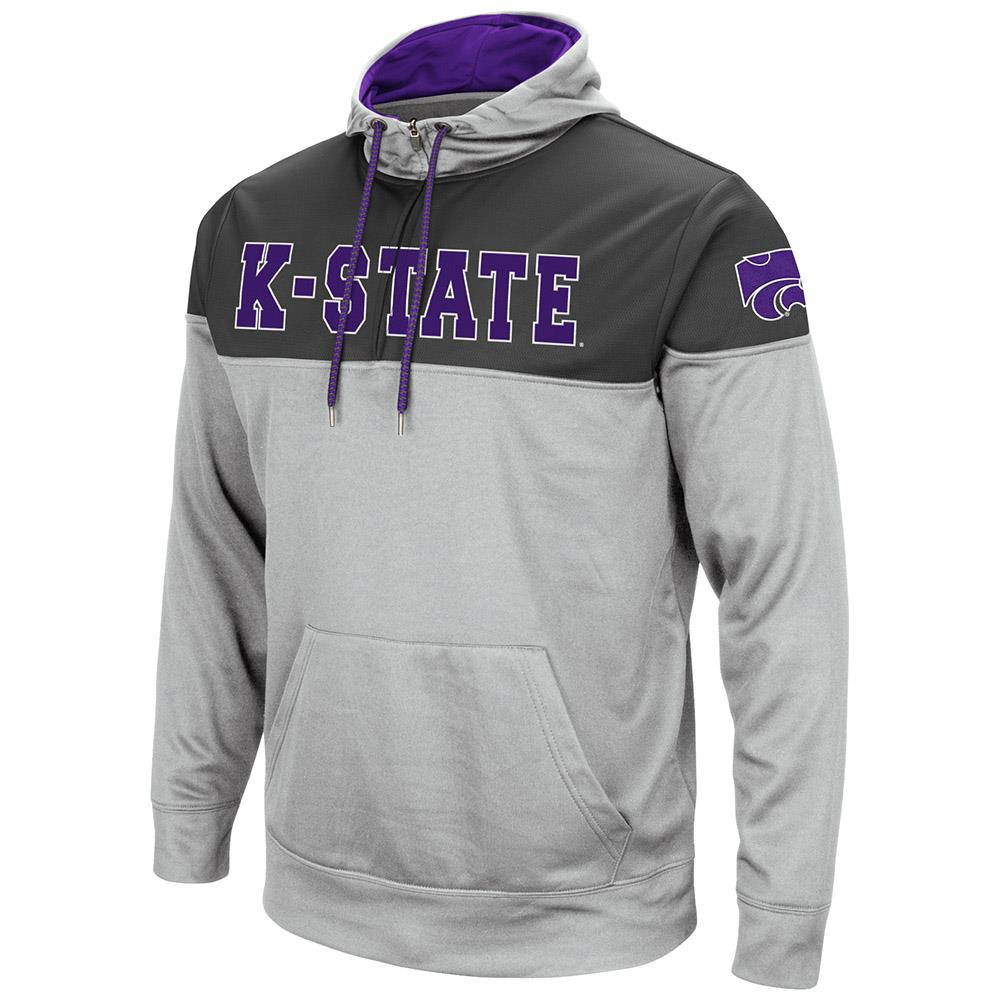 Mens Kansas State Wildcats Quarter Zip Pull-over Hoodie by Colosseum