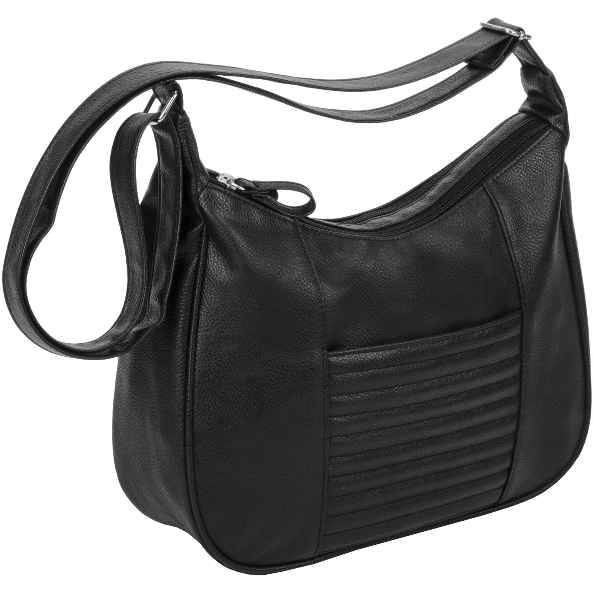Women's Quilted Crossbody Hobo Handbag with Adjustable Strap