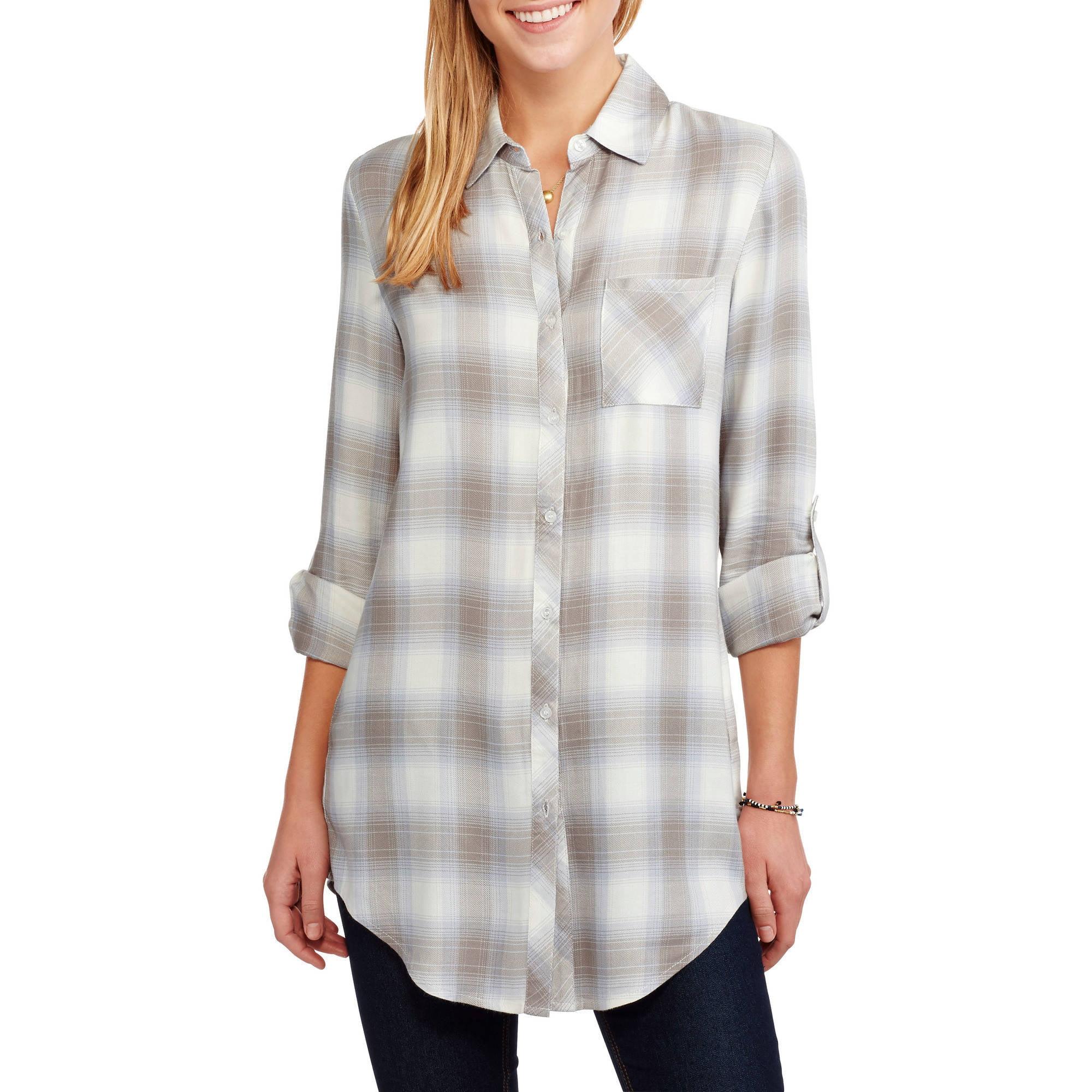 Womens Plaid Shirts Walmart Anlis