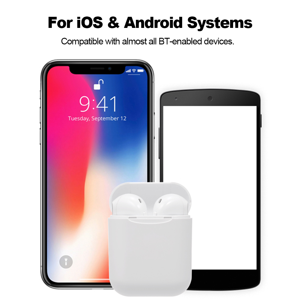 i11 Bluetooth-Kopfh/örer,In-Ear Kabellose Kopfh/örerr,IPX5 Wasserdicht,Noise-Cancelling-Kopfh/örer f/ür immersiven Klang,mit 24H Ladek/ästchen und Mikrofon f/ür Android//iPhone//Samsung//Airpods Pro//Huawei