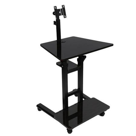 Octpeak Stand Up Laptop Desk, Adjustable Height Stand Up Hanging Laptop Desk Computer Standing Desk, Adjustable Stand Up Laptop Desk
