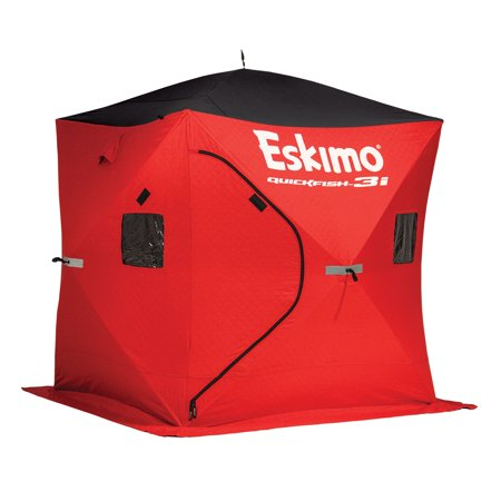 Eskimo QuickFish3 Insulated 3-Person Pop Up Ice Fishing Shanty Shack Shelter - Eskimo Suits