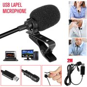 USB Lavalier Microphone, EEEkit Lavalier Mic Lapel Clip on Microphone Compatible with Computer PC, Laptop, Mac, MacBook, PS4, Perfect for Video Yutube Recording, Interviews ,Skype, Vlogging