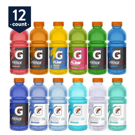 3cd74a6fb771f Gatorade Thirst Quencher Variety Pack, 20 oz Bottles, 12 Count Sampler