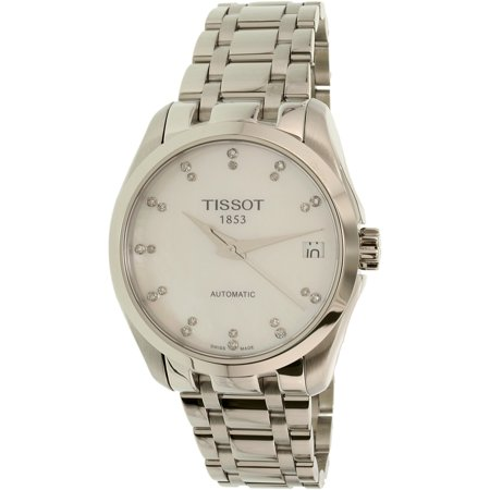 Women's T-Trend T035.207.11.116.00 Silver Stainless-Steel Swiss Automatic Fashion Watch Date Automatic Movement Womens Watch