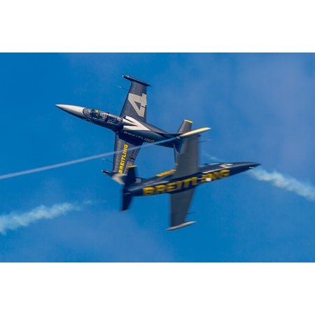 Canvas Print Breitling Jet Team Aero L-39 Albatros Aircraft Stretched Canvas 10 x 14