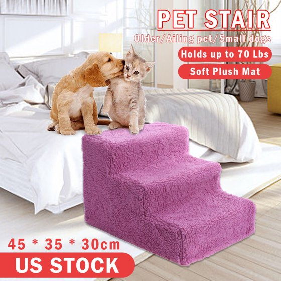 Portable Pet Stairs Dog Steps Indoor Ramp Folding Animal Cat Ladder ...