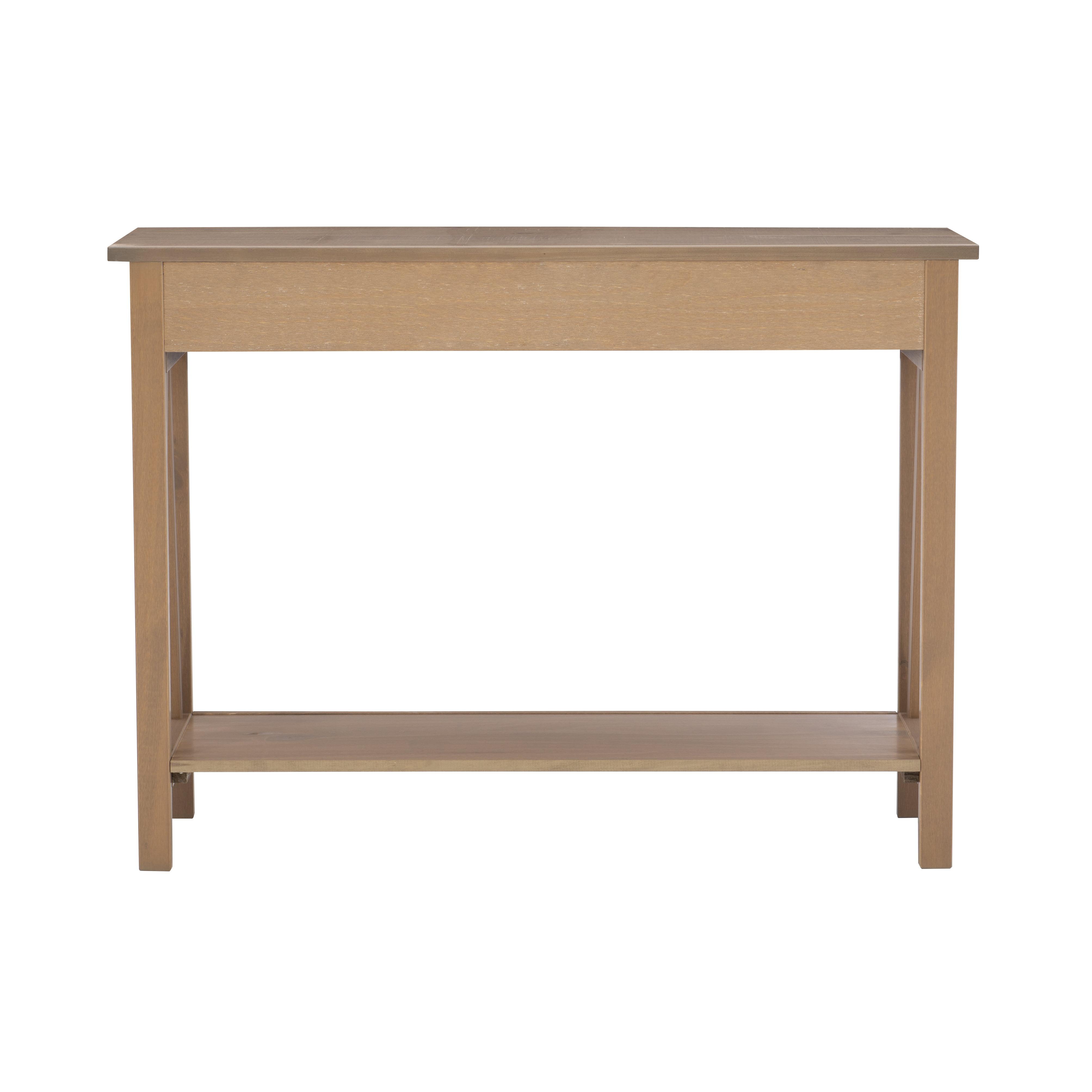 Linon Titian 42 Wide Driftwood Console Table Walmart Com Walmart Com
