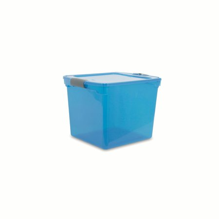 Homz 31 Qt. Blue Latching Storage Containers, Set of 8 (Blue Rooster Box)