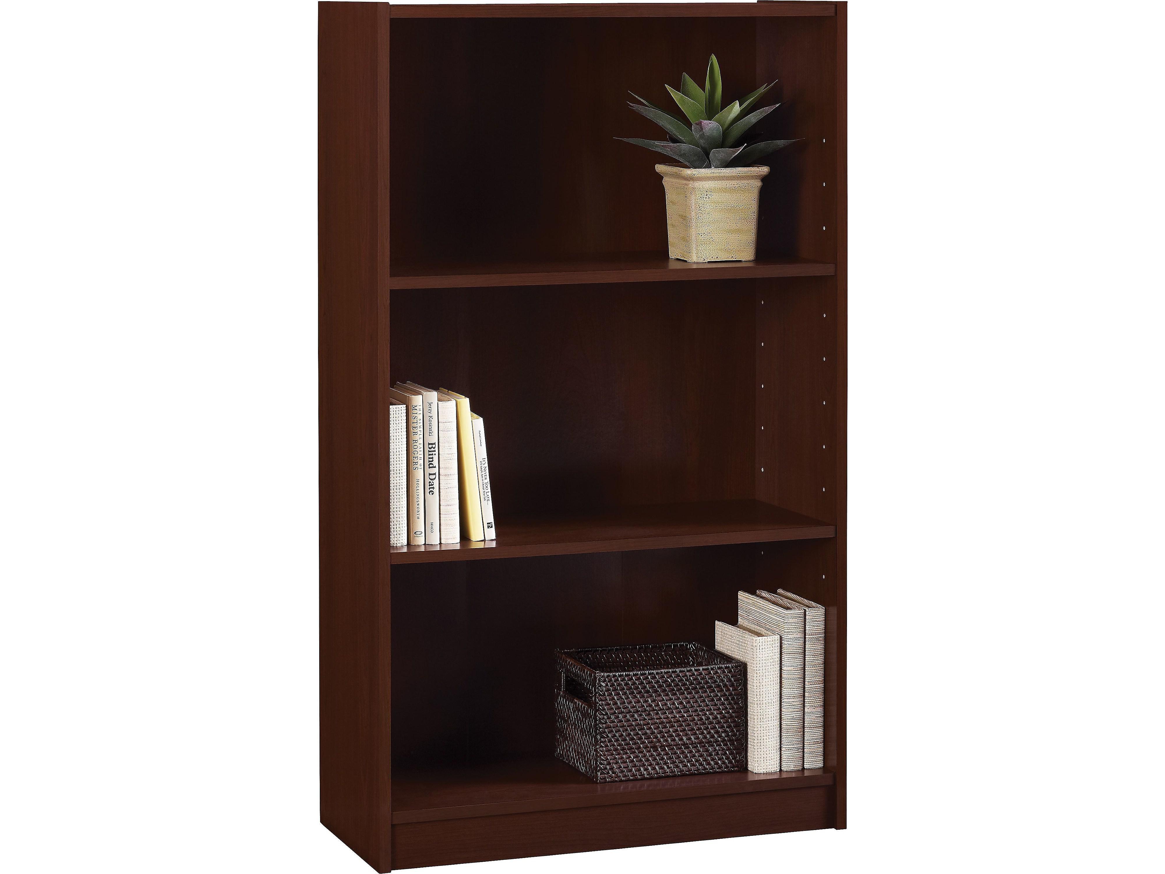 Ameriwood Hayden 3 Shelf Standard Bookcase Cherry 9614016p 952809 Walmart Com Walmart Com