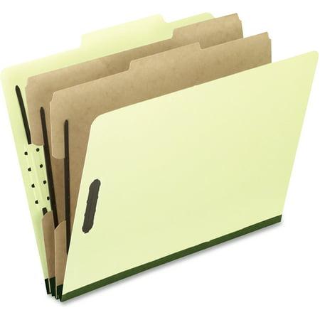 Pendaflex, PFX2257G, Fastener Pressboard Classification Folders, 10 / Box, Gray/Green