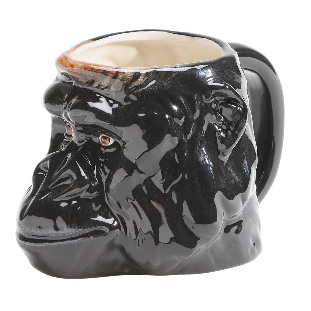 Wild 3D Sculpted Animal Mug - Gorilla - Great Gift - 12 Ounces