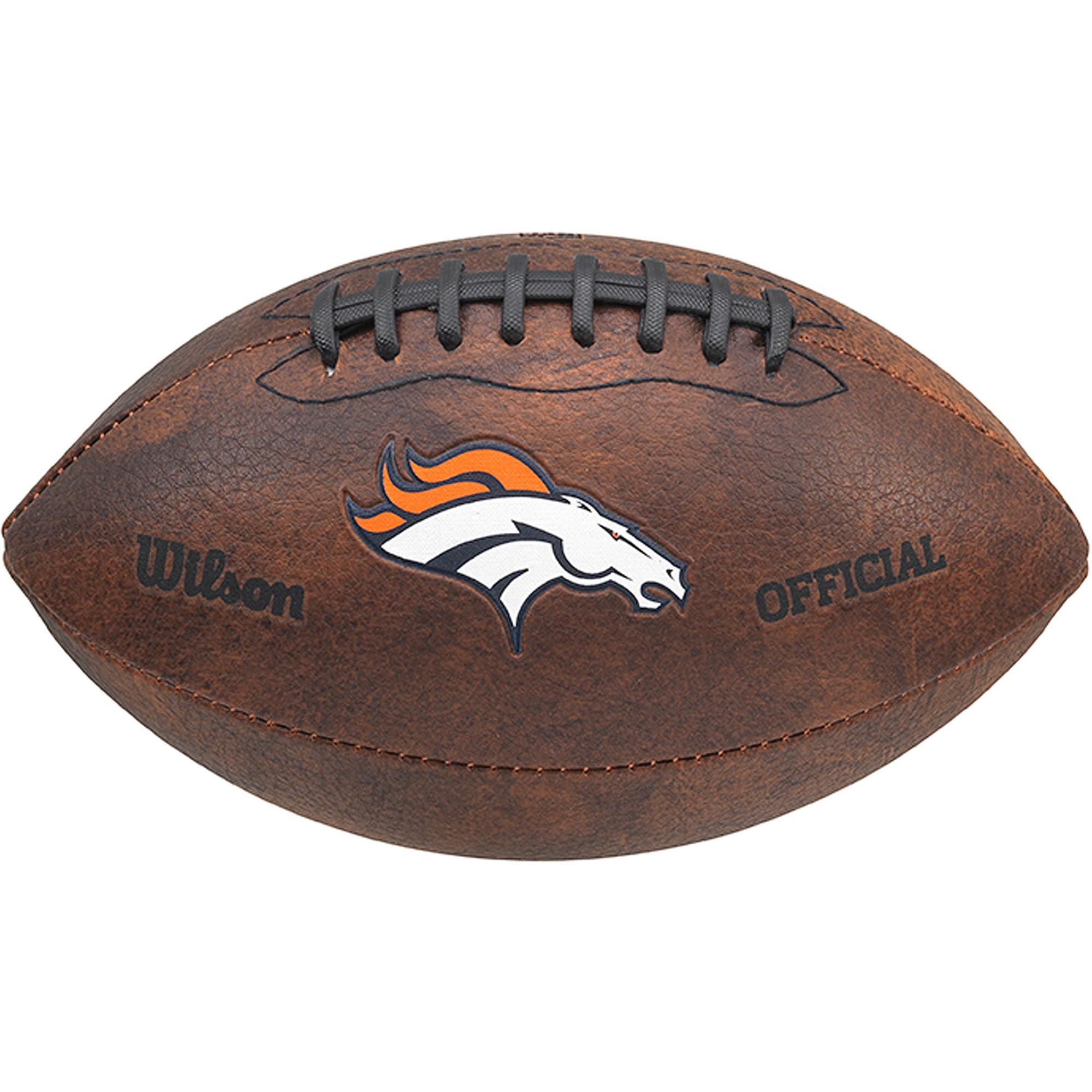 """Wilson NFL 9"""" Color Throwback Football, Denver Broncos"""