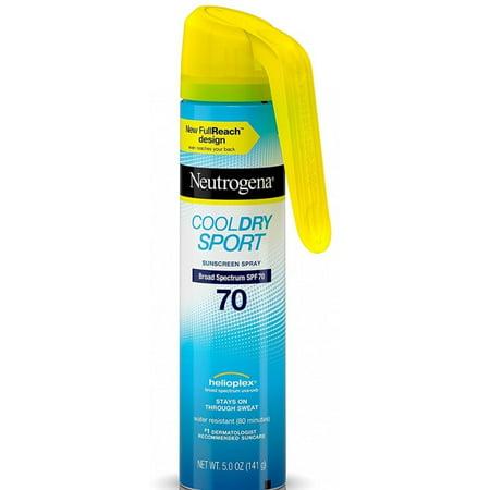 6 Pack - Neutrogena Cool Dry Sport Full Reach Sunscreen Spray, SPF 70, 5 oz (Cool Sun)