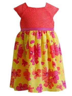 bb4095b4fc2a Product Image Infant Girls Yellow & Orange Floral Print Sun Dress Sundress.  Youngland