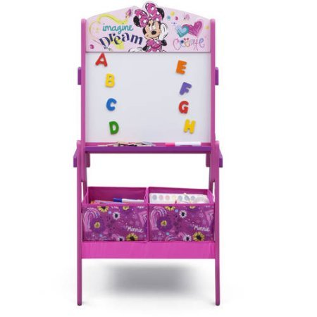 Minnie Mouse Magnetic Dry Erase Surface Activity Easel includes 2 Storage Bins and Alphabet -