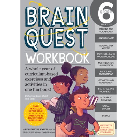 Brain Quest Workbook: Grade 6 - Paperback