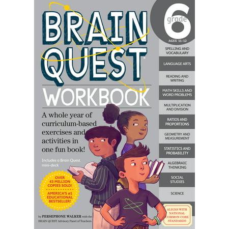 Brain Quest Workbook: Grade 6 - Paperback - Brain Quest Kindergarten