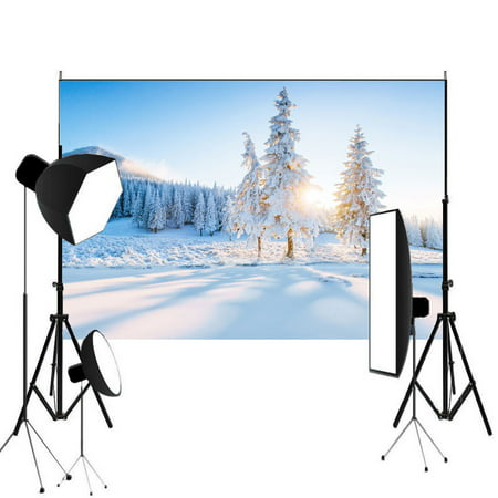 7x5ft Winter Scene Backdrop Wonderland Snowflake Photography Background Bokeh Glitter White Snow Forest Christmas Party Decoration Tree Landscape Kids Portrait Photo Studio Props](Winter Wonderland Decorations)