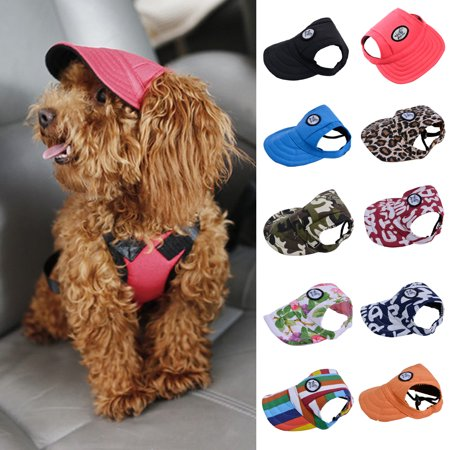 Legendog Canvas Summer Small Pet Dog Cat Baseball Visor Hat Puppy Cap Outdoor Sunbonnet, flower colorful
