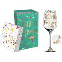 Wine Glass w/Box, 12 OZ., Aged to Perfection