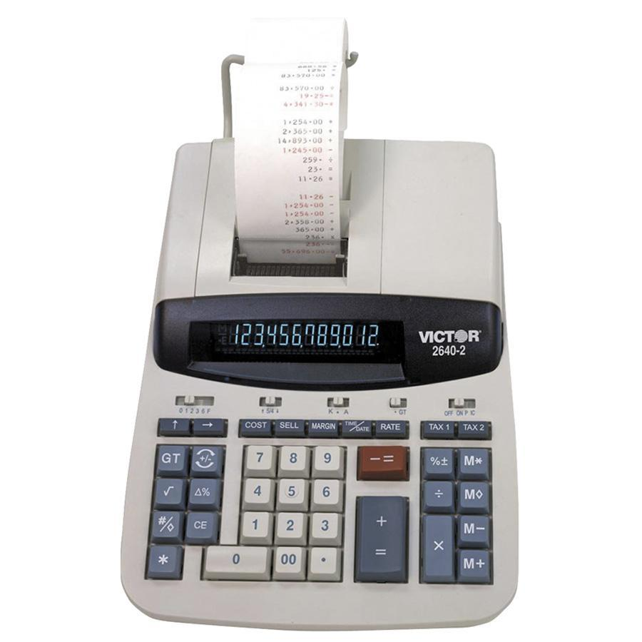 Victor 2640-2 12 Digit Heavy Duty Commercial Calculator, White, 1 Each (Quantity)