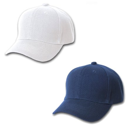 Mechaly Comfortable Solid Adjustable Unisex Baseball Cap - 2 Pack