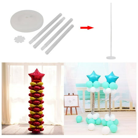 Beautiful Single Pole Balloon Column Frame Kit Set DIY Tool Perfect For Wedding Birthday Party Event Decoration for $<!---->