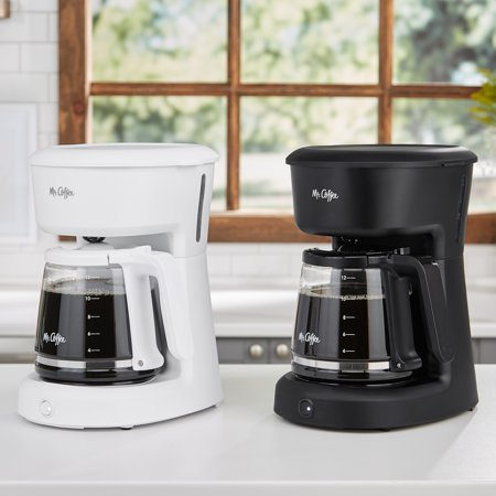 Mr. Coffee 12 Cup Coffee Maker with Easy on/off LED Switch, Black